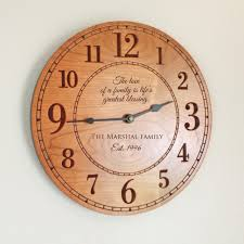 personalized wedding clocks personalized family wood clock the top caption reads the