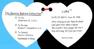 baby dog tags luke ty beanie babies