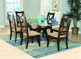 Round Glass Top Dining Table Wood Base Round Black Glass Top Dining Table With Silver Steel Vase Plus