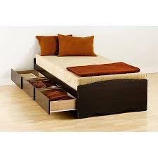 espresso twin bed prepac edenvale twin platform storage bed espresso walmart com