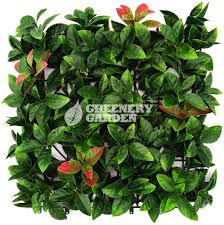 artificial plants photinia leaf panel artificial plants wall panel greenery garden