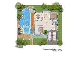 houses plan baan dusit pattaya house type c 299 25 sq m