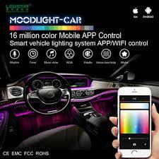 app controlled car lights moonlight car interior led light car 12v smart mobile app control