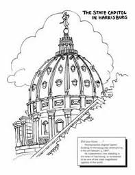 Coloring Pages Pa Capitol The Coloring Pages