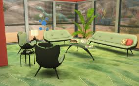 Sims 4 Furniture Sets Mod The Sims Ts2 To Ts4 60s Living Room Set