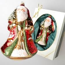 father frost red gold green christmas ornaments 2014 christmas