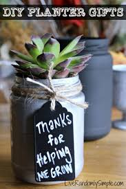 diy succulent mason jar gifts parents teacher and gift