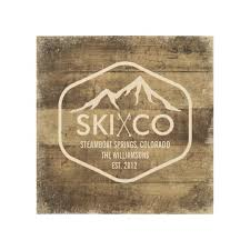 rustic ski mountain steamboat springs colorado wood print zazzle