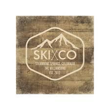 wood print rustic ski mountain steamboat springs colorado wood print zazzle