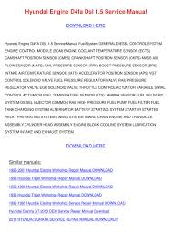 hyundai engine d4fa dsl 15 service manual by tedsowell issuu