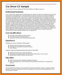 Sample Bus Driver Resume by 8 Driver Cv Sample In Word Format Cover Title Page