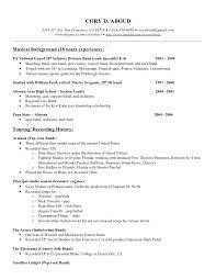 professional musician resume resumei resume cv cover letter