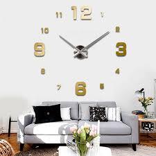 wall watch 3d wall clock wall watch modern design hang clock home diy home