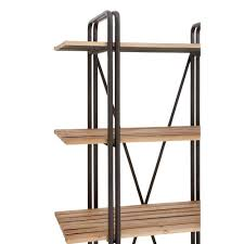 leaning metal and wood shelving unit furniture divine furniture