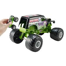 remote control grave digger monster truck wheels monster jam giant grave digger vehicle mattel toys