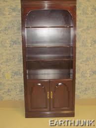 Ebay Bookcase by Ethan Allen Bookcase Wall Unit 2 Doors Cabinet Cherry Georgian