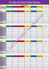 Diet Tracker Spreadsheet 21 Day Fix Workout Schedule Portion Diet Sheets