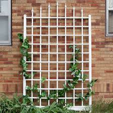 8 ft wall mounted trellis in white vinyl made in usa