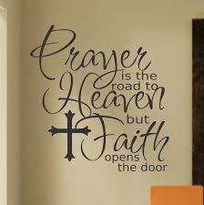 In The Night Garden Wall Stickers Prayer Road To Heaven Religious Decal Christian Vinyl Quotes
