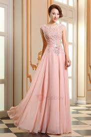 eye catching scoop appliques lace up floor length prom dress