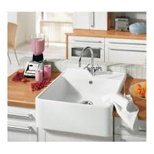 Villeroy  Boch Butler  Mm X Mm White Single Bowl Belfast - Belfast kitchen sink
