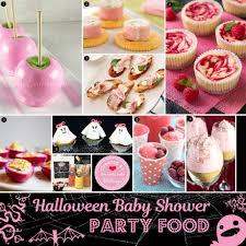 pink halloween baby shower ideas