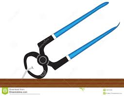 pliers and nail royalty free stock images image 35516309
