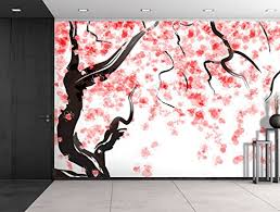 wall26 large wall mural japanese cherry tree blossom in