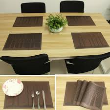 large plastic table mats 2018 dining table mats pvc place mats for kitchen table washable