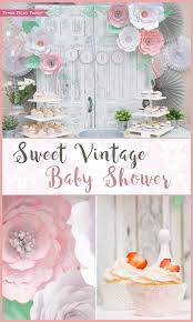 A Sweet Vintage Baby Shower By Press Print Party