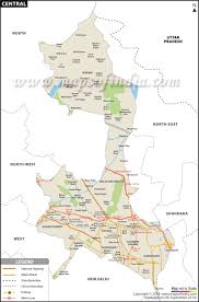 Central Time Zone Map by Central Delhi District Map