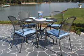 amazing mesh outdoor dining sets mid century modern mcm wire mesh