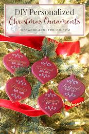 diy personalized ornaments just a and