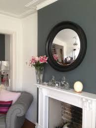 round mirror over fireplace round designs