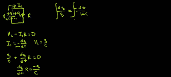 derivation of charging and discharging equations for rc circuit