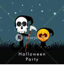 background for halloween banner or background for halloween party night with ghost on night