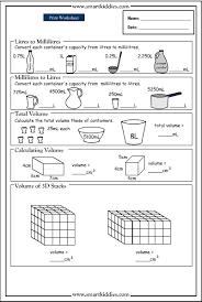 converting and calculating volume mathematics skills online