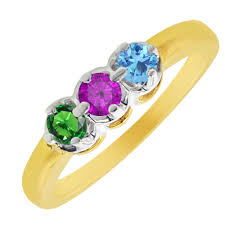 mothers rings white gold 3 s illusion ring in 14kt yellow and white gold