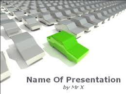 powerpoint themes free cars green car powerpoint template