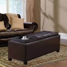ottoman breathtaking best storage ottoman with serving tray