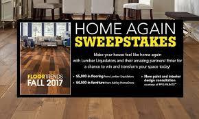 lumber liquidators home again sweepstakes sweepstakesbible