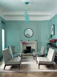 traditional blue green living room in midcentury style dweef com