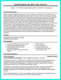 Professional Summary Examples For Nursing Resume by Qualification Summary Nurse Resume
