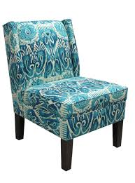 Armchair Legs Furniture Marvelous Images Of Patterned Padded Peacock Blue Chair