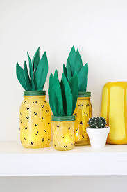 best 35 diy easy and cheap mason jar projects 34 pineapple light