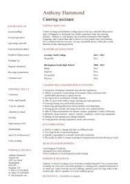 Catering Manager Resume Gorgeous Catering Manager Resume 6 Catering Cv Template Food