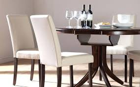 White Leather Dining Room Chairs Wood Leather Dining Chairs Leather Modern Design Solid Wood Dining