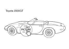 super car toyota 2000gt coloring page for kids printable free