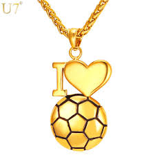gold necklace pendant images Gold silver i love soccer necklace pendant enrico 39 s empire jpg
