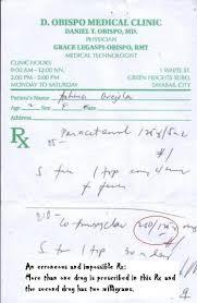 erroneous violative or impossible prescription